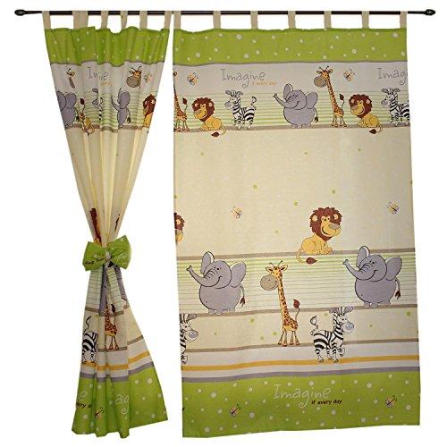 Tuptam tende con bracciali per camerette per bambini 2 pz, imagine verde, c. 155x95 cm