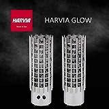 HARVIA GLOW Elektrische Saunaofen TRT90 9.0 kW mit integrierte Steuerung; Multispannung: entweder Einphasig oder 3-Phasig; Edelstahl