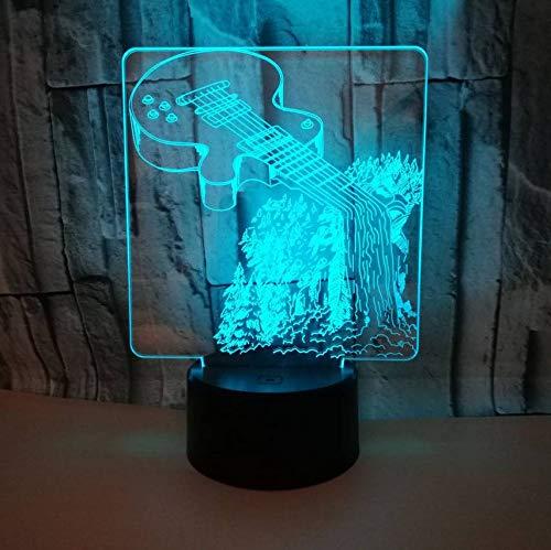 3D Led Nachtlicht Musikinstrumente 7 Farbwechsel Tischlampe Erstaunliche Visualisierung Optische 3D Lampe - Musikinstrumente Erstaunlich,