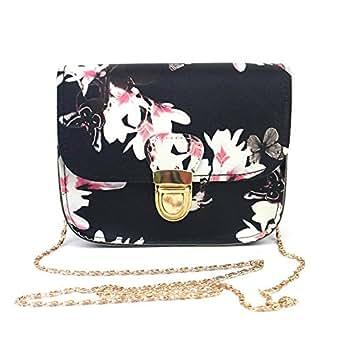 ❤️ Women Handbags, Xinantime Ladies Leather Printing Small Deer Shoulder Bags Tote Bag Travel Bag Messenger Bag Crossbody Bag (Black)