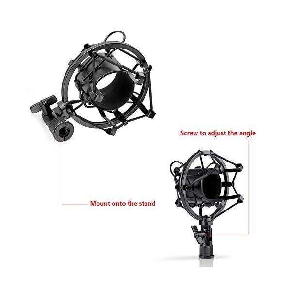 Neewer NW-700 Microfono a Condensatore Professionale & NW-35 Supporto a Forma Forbici Regolabile con Filtro Antipop e Morsetto da Tavolo