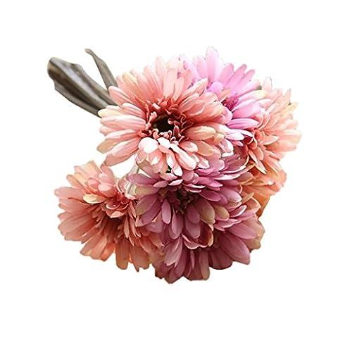 Kunstblumen Clode® Künstliche Fake Blumen Blatt Magnolia Floral Hochzeit Bouquet Party Home Decor (H)