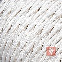 5 Meter * Made in Europe * Schwarz 3x0,75mm/² Textilkabel f/ür Lampe Stoffkabel 3-adrig