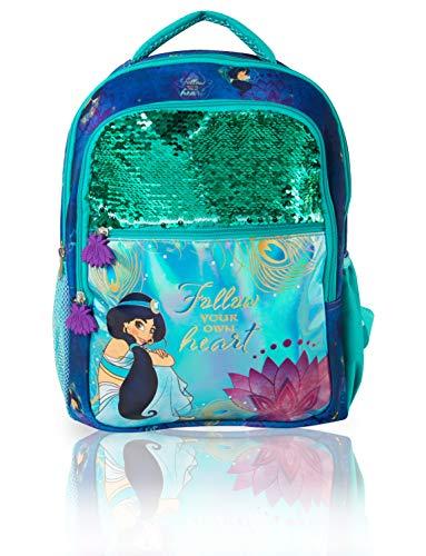 Disney Zaino Bambina Con Jasmine | Zainetti Con Personaggi Del Nuovo Film Aladdin | Zainetto Olografico Con Paillettes, 2 Tasche Frontali, 2 Tasche Laterali | Idea Regalo Ragazza Di Tutte Le Età
