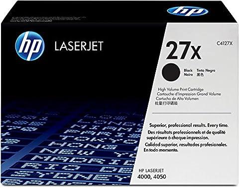 HP 27X High Yield Black Original LaserJet Toner Cartridge (C4127X)