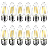 LVWIT Bombillas Vela de Filamento LED E27 (Casquillo Gordo) - 4W...