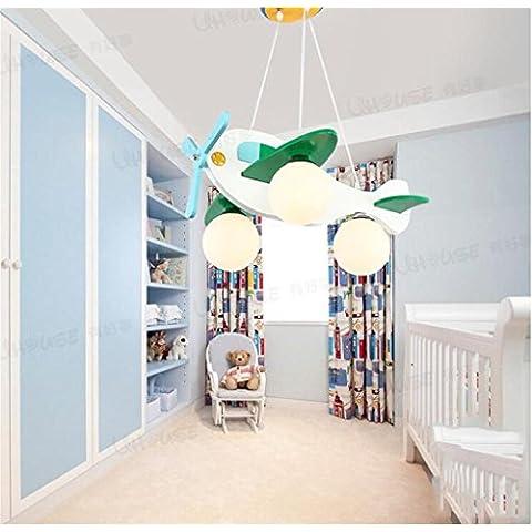 Carino piccolo aereo leggero lampada da letto