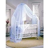 Butterme Insektenschutz Mückennetz Moskitonetz Baby Toddler Moskito Netz für Kinderbetten Himmelbett Blau