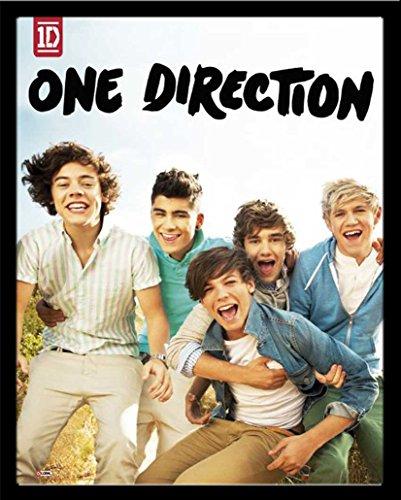 empireposter - One Direction - Album - Größe (cm), ca. 40x50 - Mini-Poster + Wechselrahmen der Marke Shinsuke Mini aus schwerem MDF Holzfaserwerkstoff, Holzoptik schwarz - mit Acrylglas-Scheibe.