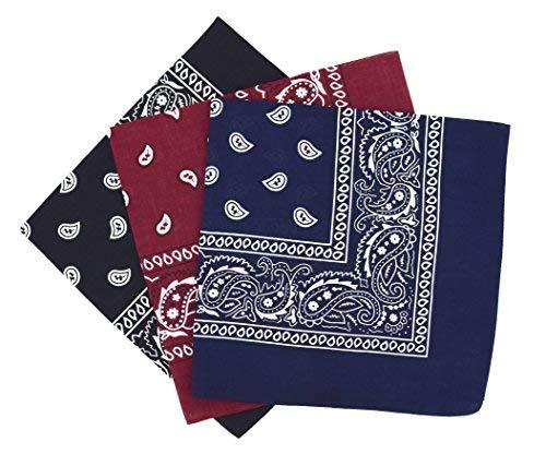 Bandanas paisley para hombre y mujer, bufanda por la cabeza unisex venden por 3