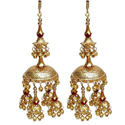 Lucky Jewellery Golden Metal Bridal Kalira For Women