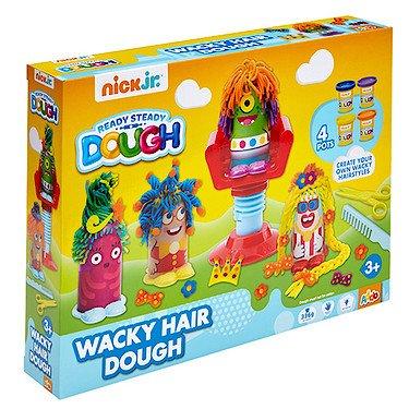 Nick Jr – Ready Steady Dough – Wacky Hair Dough – Le Coiffeur + 4 Pots de Pâte à Modeler