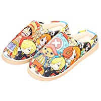 Gumstylekxgj One Piece Style Anti-Slip House Slippers Winter Plush Warm Indoor Shoes