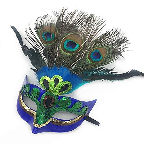Xiao-masken Venezianische Maske Maskerade Karneval Maskenball Kostüm Pfauenfedern Hohe Qualität Für Anonym Mardi