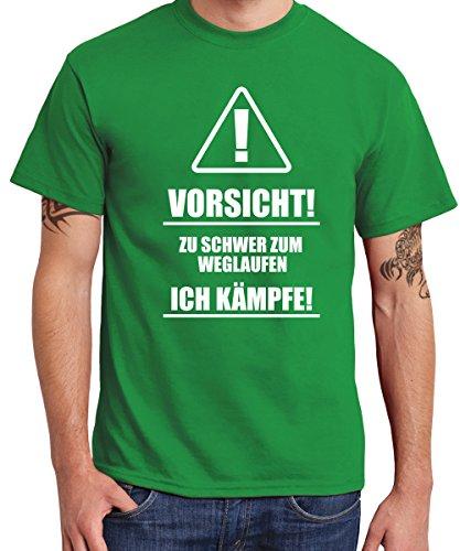 -- Zu schwer zum wegrennen, ich kämpfe! -- Boys T-Shirt Kelly Green, Größe XXL (Von Das Green Team Trinken T-shirt)