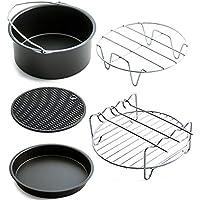 Dooret 5 unids Aire Sartén Accesorios Freidora Cesta de La Hornada de Pizza Plate Grill Pot Mat