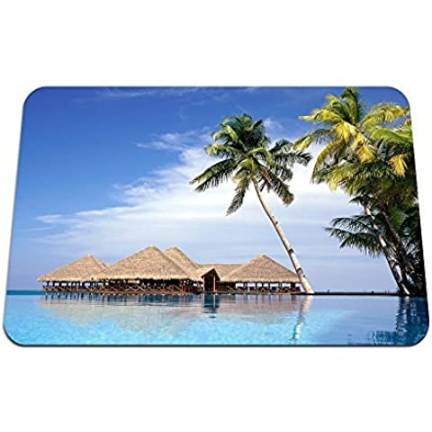 Entertainment Center, Maldives - Gaming Mouse Pad - 8.6x7.1 inches by Big_Grin