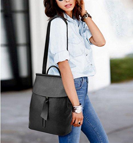 LAIDAYE Frau Fashion Reisetasche Mit Großer Kapazität Black