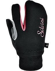 silvini Joven Softshell guantes, niño, TEXEL, black/punch