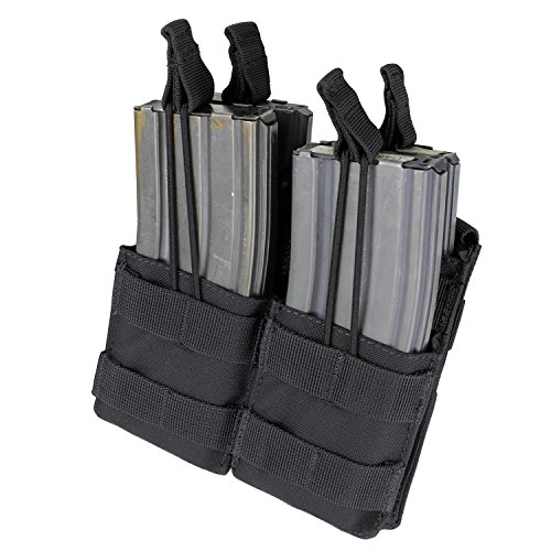 CONDOR MA43-002 Double Stacker M4/M16 Mag Pouch Black -