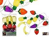 OOTB Lichterkette, Früchte, Plastik, 0 W, Bunt, 20 x 13 x 6.1 cm