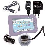 DURAGADGET Kit Cargador Coche De Doble USB + Cable microUSB De Sincronización + Cargador Europeo De Viaje Para Tablet Clan TV 7' Cefatronic