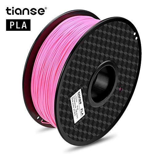 TIANSE Filamento de PLA para la impresora 3D / Pluma 3d, 1 kg 1,75 mm(Rosa)