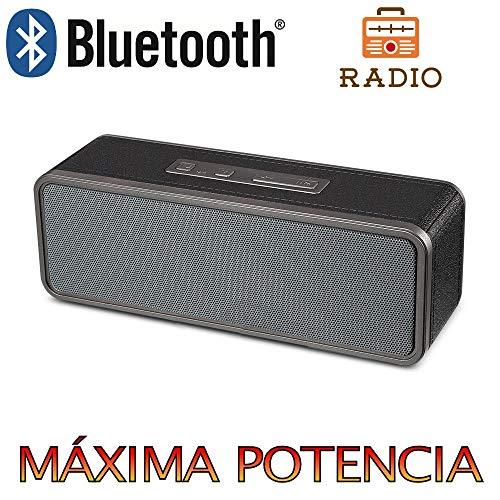Altavoz Bluetooth, Unicview BY1040 con Radio Estéreo HD Altavoces Inalámbrico, Portátil con...