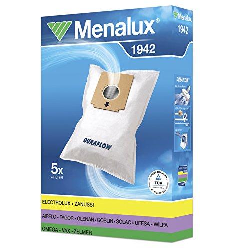 Menalux 1942 5 - Bolsa para aspiradoras Electrolux Listo Z2099/2100 y Zanussi Compact Power
