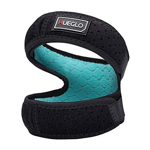 Knee Strap,Patella Bandage Kniegurt Einstellbare Knieschutz für Laufen, Springen, Basketball, Outdoor Sport oder Knie Schmerzlinderung, 12'' - 18'', Schwarz