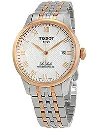 Armbanduhr Tissot Le LocLe Powermatic 80t0064072203300Schalter Stahl Quandrante weiß Armband Stahl