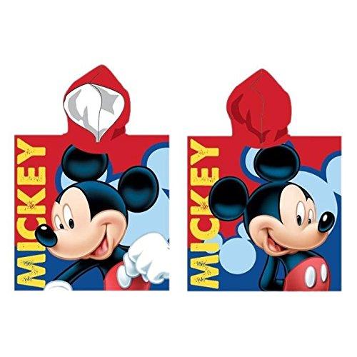 Poncho Hat capuche-cape-bain-mickey Disney 55x 110cm Präsentation Vorderseite/Rückseite aus Mikrofaser