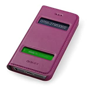 GGMM Window-A5 Case for iPhone 5/5s - Retail Packaging - Purple