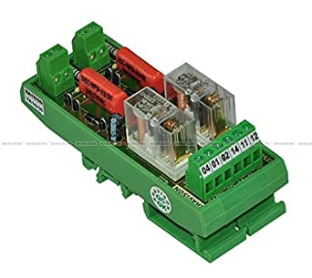 Shavison Relay Module AS422-230VAC-OE, 1C/O, 2 Channel, 230VAC Coil, OEN Relay, Directly Soldered Relay, Isolated Coils, Contact Rating : 28VDC/230VAC, 5A