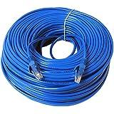 Vococal® 30m RJ45 Cat5e Câble Ethernet pour PC Internet Routeur Bleu