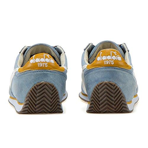 Diadora Heritage Equipe Pierre Lavage 12, Unisexe Low-top Chaussures Unisexe C7456 - Bleu Ombroso-giallo Paglia
