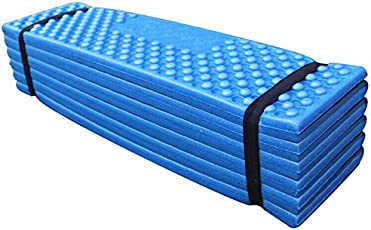 190x57x2cm Ultralight Camping Mat,Easy Folding Beach Tent Foam Sleeping Pad Waterproof Mattress by Leoie