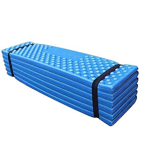 ultral?ger en mousse Tapis de camping ext?rieur facile Tente de plage pliante Sleeping Pad Matelas imperm?able 190?x 57?x 2?cm - bleu