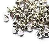 Mackur DIY Remaches DE 9,5 mm de Plata Cono Spikes Tornillo Tachuelas 100 Piezas