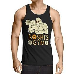 style3 Roshi Dragon Master Camiseta de tirantes para hombre Tank Top turtle ball, Talla:S