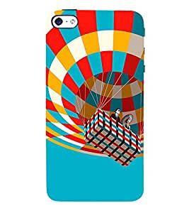 Hot Air Balloon 3D Hard Polycarbonate Designer Back Case Cover for Apple iPhone 5