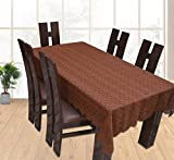 #9: Yellow Weavestm Designer Dining Table Cover Net Fabric 60 X 90 Inches, Color - Brown