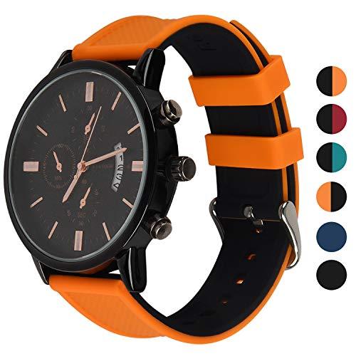 Arriba Asus Silicona Watch De Suave Inoxidable Compatible Fullmosa Huawei Recambio Con Hebilla Acero Hecha WatchRainbow Correa Reloj eWEYbHI29D