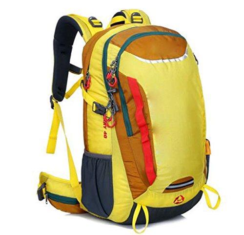 Outdoor Grande Capacità Di Alpinismo Di Sport Borsa Da Viaggio Impermeabile Multifunzionale,Green Yellow