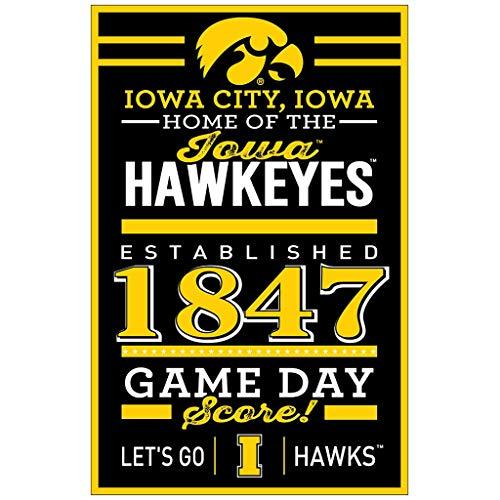 Wincraft NCAA Iowa Hawkeyes SignWood Designs, Teamfarbe, 11 x 17 cm