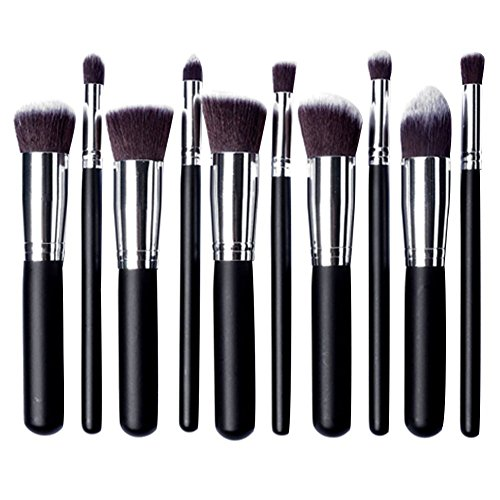 Demarkt Kit Pinceau Maquillage Brosse Professionnel 10PCS Eyebrow Shadow Makeup Blush Fond Teint AntiCerne (A)