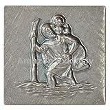 Heiliger St. Christophorus Plakette 32 x 31 mm Glücksbringer Talisman