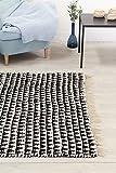Trendcarpet Teppich 140 x 200 cm (baumwollteppich) - Lindby (schwarz/weiß) Größe 140 x 200 cm