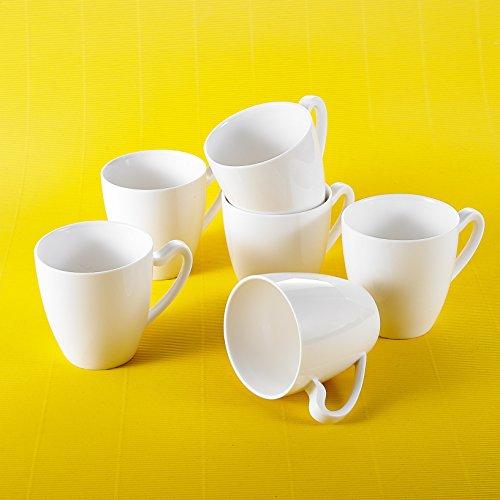 MALACASA, Serie Elvira, 12 TLG. Becher Set Porzellan Kaffeeservice Tasse für 12 Personen