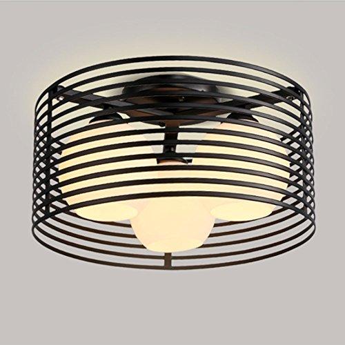 Nordic LED Deckenleuchten, 3 Leuchten Modern Schwarz/Weiß Eisen Glas Beleuchtung Dekorative Kronleuchter Deckenlampen Europäischen Wohnzimmer Schlafzimmer Esstisch Deckenleuchte (Color : Black) -